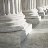 Columns at Supreme Court Building Photographic Print by Ron Chapple