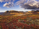 Mountains in fall colors Photographic Print by Jami Tarris