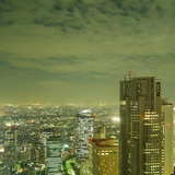 Tokyo Skyline at Night Fotografie-Druck von David Vintiner