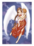 Angel And Child Giclee Print by Harry Briggs