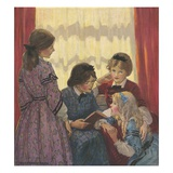 Illustration of a Scene from Little Women Giclee Print by Jessie Willcox-Smith