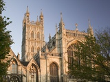 West Facade of Gloucester Cathedral at Dusk Photographic Print by Chris Warren