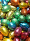 Colorful Chocolate Eggs Photographic Print