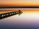 Dock on Still Lake Photographic Print by Frank Krahmer
