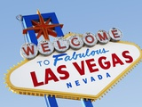 Las Vegas Welcome Road Sign Photographic Print