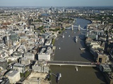 Thames River and London Photographic Print by Jason Hawkes