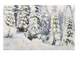 Winter Tale Giclee Print by Aleksandr Alekseevich Borisov