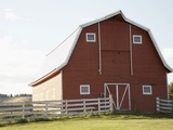 Barn in rural landscape Photographic Print by Marnie Burkhart