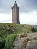 Scrabo Tower on Hill Photographic Print