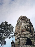 Stone Sculpture in Angkor, Cambodia Photographic Print by Howard Pyle