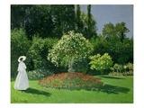 Young Woman in a Garden Giclée-Druck von Claude Monet