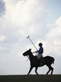 Polo player riding polo pony Photographic Print by Lucas Lenci