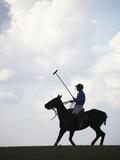 Polo player riding polo pony Photographic Print by Lucas Lenci