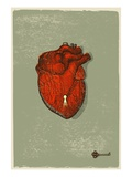 A Heart with a Keyhole in It, and the Key Nearby Giclee Print