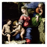 Detail of Holy Family of the Oak Tree Reproduction procédé giclée par Raphael