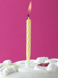 Illuminated Birthday Candle Photographic Print