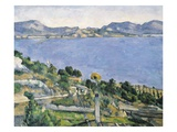 L'Estaque, View of the Bay of Marseilles Giclee Print by Paul Cézanne