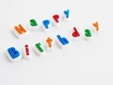 Happy Birthday Letters Photographic Print by  Kreber