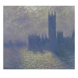 The Houses of Parliament, Stormy Sky Giclee Print by Claude Monet