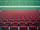 Empty seats in stadium Photographic Print by Scott Barrow