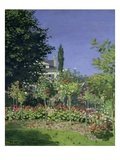 Flowering Garden at Sainte-Adresse Giclee Print by Claude Monet