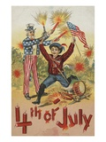 4th of July with Firecrackers Giclee Print