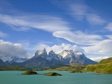 Cuernos del Paine Peaks Above Lago Pehoe Photographic Print by John Eastcott &amp; Yva Momatiuk