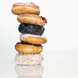 Stack of Donuts Photographic Print by David Arky