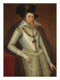 Portrait of James I of England Gicléetryck av John De Critz The Elder