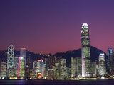 Skyline of Central District in Hong Kong Fotografiskt tryck av Steven Vidler