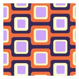 Retro Squares Pattern Giclee Print