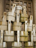 Buckets Stacked at Yasaka Shrine in Kyoto Photographic Print by Rudy Sulgan