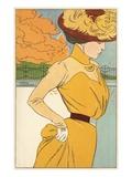 Autumn Fashion Postcard by Henri Meunier Giclee Print