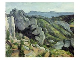 Rocks at L'Estaque Giclee Print by Paul Cézanne
