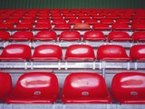 Rows of Empty Seats in Stadium Photographic Print by  Turba