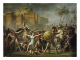 The Sabine Women Gicleetryck av Jacques-Louis David