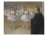 The Dance Lesson Reproduction procédé giclée par Pierre Carrier-belleuse