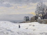 Snow at Montmartre Photographic Print by Hippolyte Camille Delpy