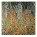 Bosque de Abedules Lmina gicle por Gustav Klimt