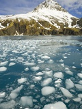 Ice Chunks From Twitcher Glacier Below the Salvesen Range Photographic Print by John Eastcott & Yva Momatiuk