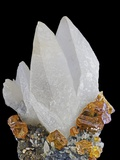 Sphalerite with Calcite Photographie par Walter Geiersperger