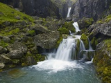 Mossy Waterfall Along the Strandar River Photographic Print by Hans Strand