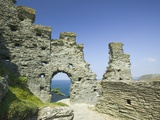 Ruins of Tintagel Castle Photographic Print by Ashley Cooper