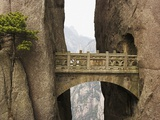 Bridge in the Huangshan Mountains Photographic Print by Frank Lukasseck