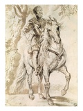 Study for an Equestrian Portrait of the Duke of Lerma by Peter Paul Rubens Giclee Print