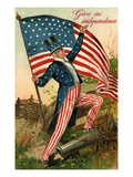 Give Us Independence with Uncle Sam Giclee Print