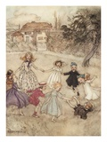 Ring-A-Ring-A-Roses Giclee Print by Arthur Rackham