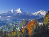 Berchtesgaden and Mount Watzmann Photographie par Walter Geiersperger