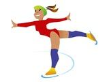 Figure Skater Giclee Print