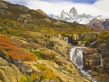 Waterfalls Cascading over Rocks near Fitzroy Range Photographic Print by John Eastcott & Yva Momatiuk